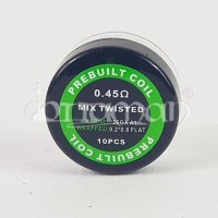 Twisted Mix Coil Prebuilt 10 Stk. - 0,45Ohm