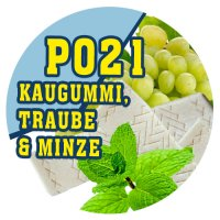 P021 - 90ml Magic Liquid Kaugummi, Traube & Minze