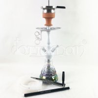 Amy Deluxe Little Zuri Rainbow Shisha - White - 35cm