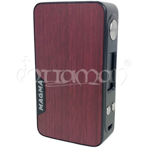 Famovape Magma Box Schwarz Wine Leather TC 200W - 8,8x4,9cm