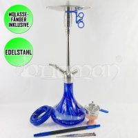 Amy Deluxe Shisha Feather Steel - Blau - 68cm