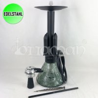 Amy Rocket Messing Edelstahl Shisha | Black | 58cm