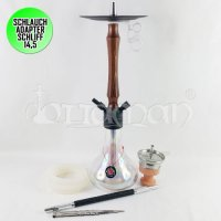 Amy Deluxe Jungle Rainbow Shisha - Schwarz - 58cm