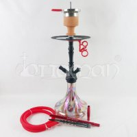 Amy Deluxe Shisha Middle Globe Rainbow - Red - 45cm