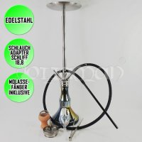 Caesar Qualle Shisha | Light Black | 80cm